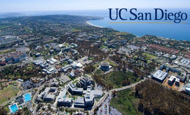 """加州大学圣地亚哥分校位于南加州圣地亚哥市的拉荷亚(La Jolla)社区,治安良好。由于其环境优美气候宜人,且坐拥全美顶级海滩,被Newsweek评为全美""""最性感""""的理科学习场所。 与UCLA的文艺气息不同,UCSD拥有一流的生物、物理、计算机研究中心,长居首位的专业有海洋学和神经学科。 UCSD在2018年USnews中综合排名42."""